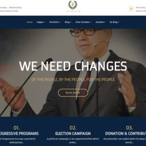 AT Politix Joomla Politics Template