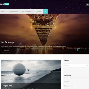 BlogFor Free Blog WordPress Theme