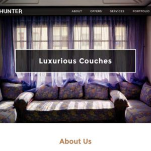 Couch Hunter Bootstrap Furniture Template