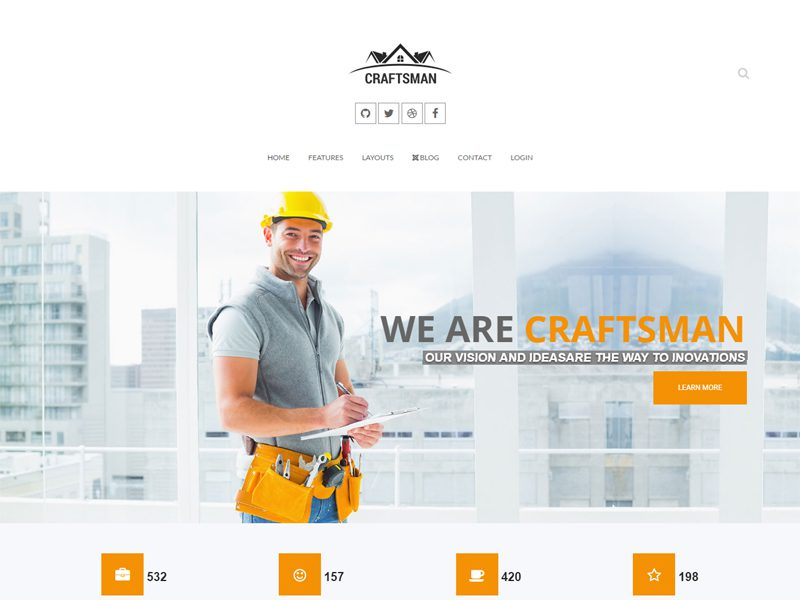 Craftsman Free Joomla Construction Template