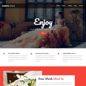Events Venue Free Bootstrap Wedding Template