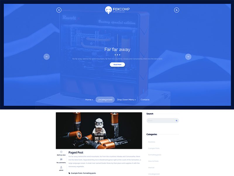 FoxComp Wordpress Hi-tech Theme