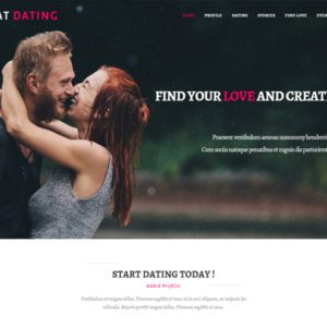 AT Dating Onepage Free Dating Onepage Joomla Template