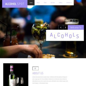 Alcohol Spot Free Restaurant Website Template