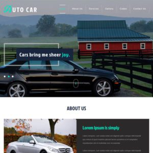 Auto Car Free Car Bootstrap Template