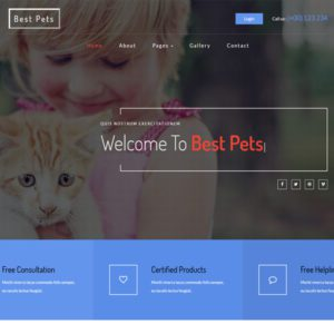 Best Pets Free Bootstrap Animals Template