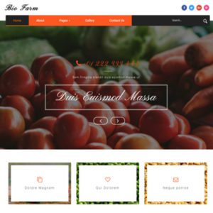 Bio Farm Free Agriculture Bootstrap Template