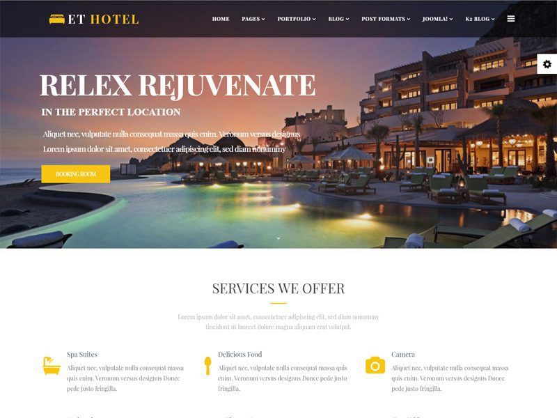 joomla hotel template - et hotel free joomla hotel template freemium download