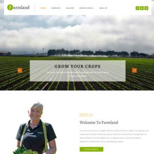 Farmland Free Agriculture Website Template