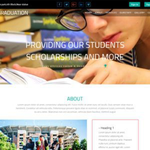 Graduation Free Education Bootstrap Template