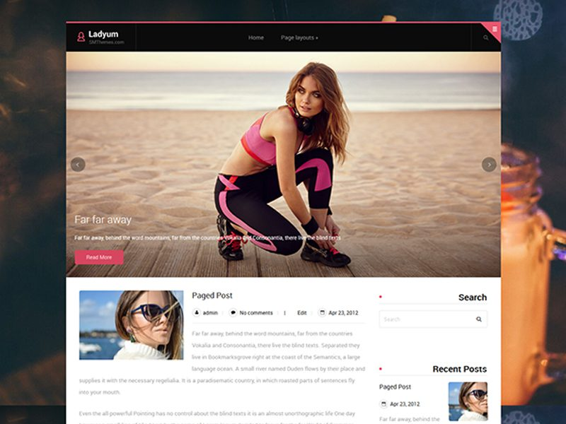 Ladyum Free Blog WordPress Theme