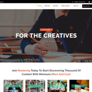 Mastering Free Education Bootstrap Template