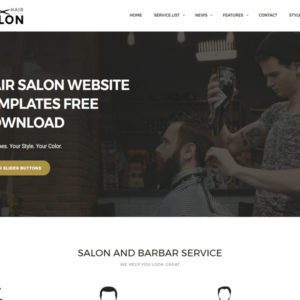 Men Hair Salon Free Bootstrap Hair Salon Template