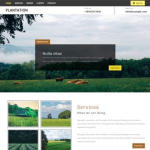 Plantation Agriculture Website Templates Free Download