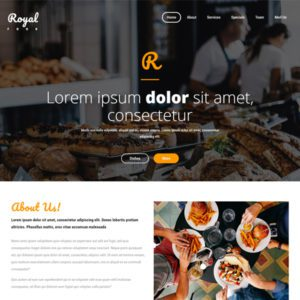 Royal Food Free Restaurant Website Template