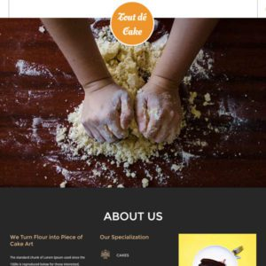 Tout de Cake Restaurant Website Template