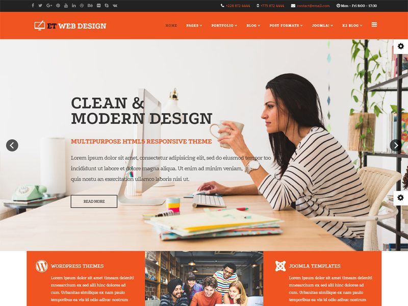 ET Web Design Joomla Web Design Template