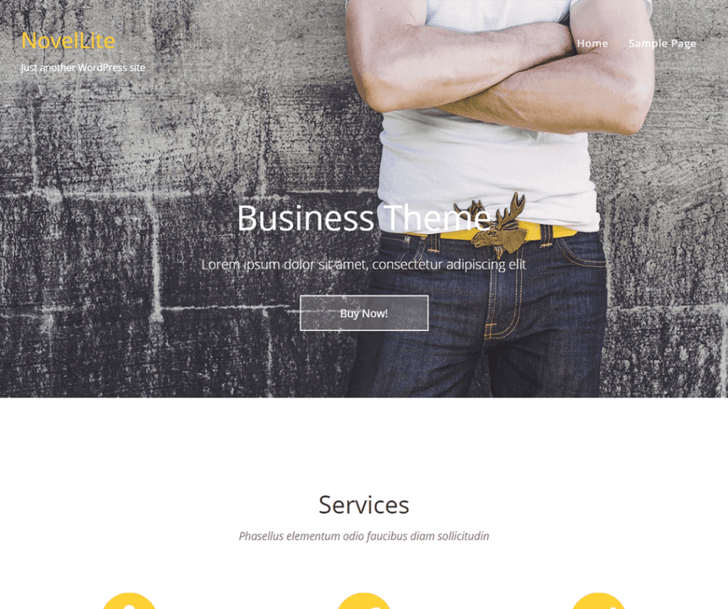 NovelLite Free WordPress Business Theme