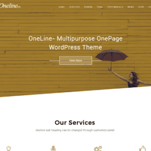 Oneline Lite WordPress Creative Theme