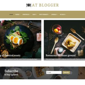AT Blogger Free Blog Joomla Template