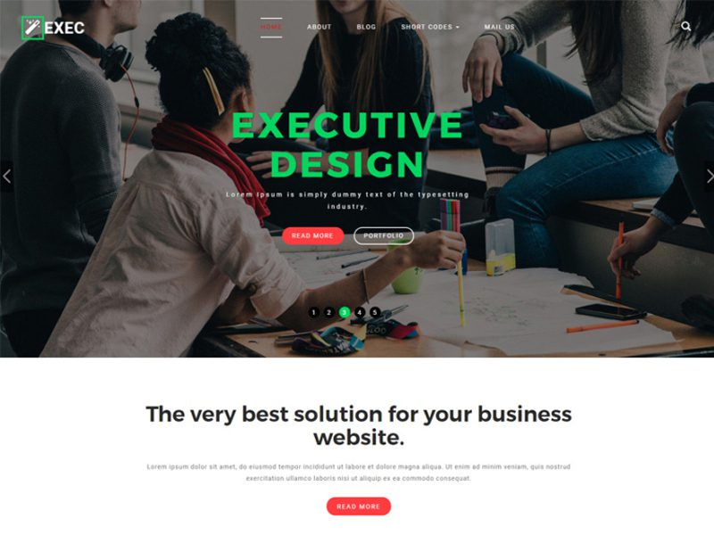 Exec Free Bootstrap Business Template