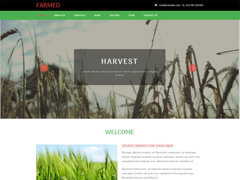 Farmed Agriculture Website Template