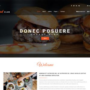 Food Club Free Restaurant Bootstrap Template