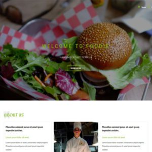 Foodie Free Restaurant Bootstrap Template