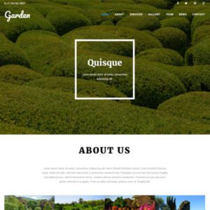 Garden Free Agriculture Bootstrap Template