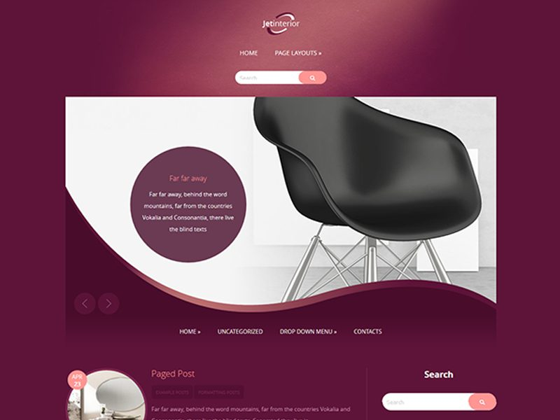 JetInterior Free Interior WordPress Theme