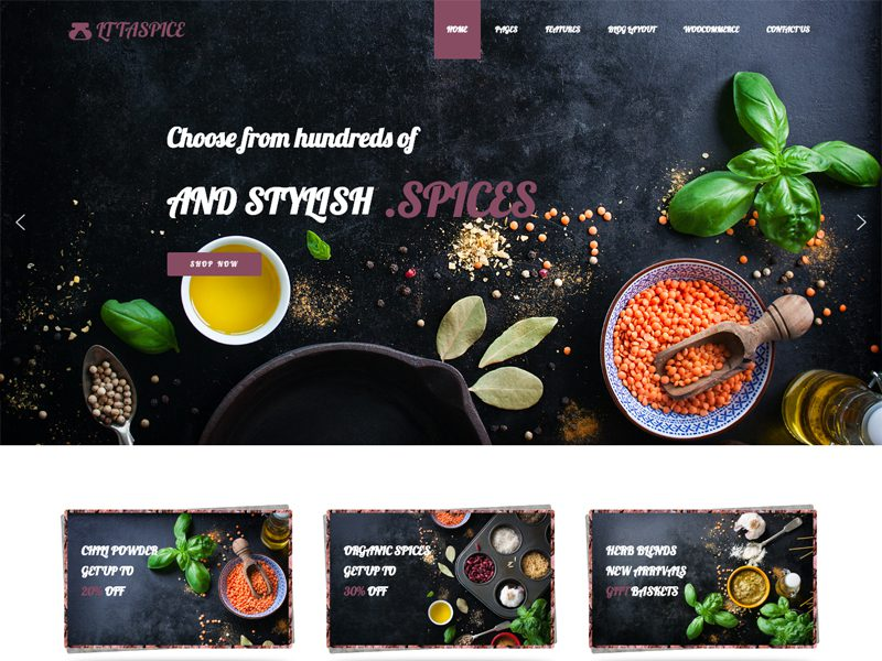 LT Taspice WordPress Organic Food Theme