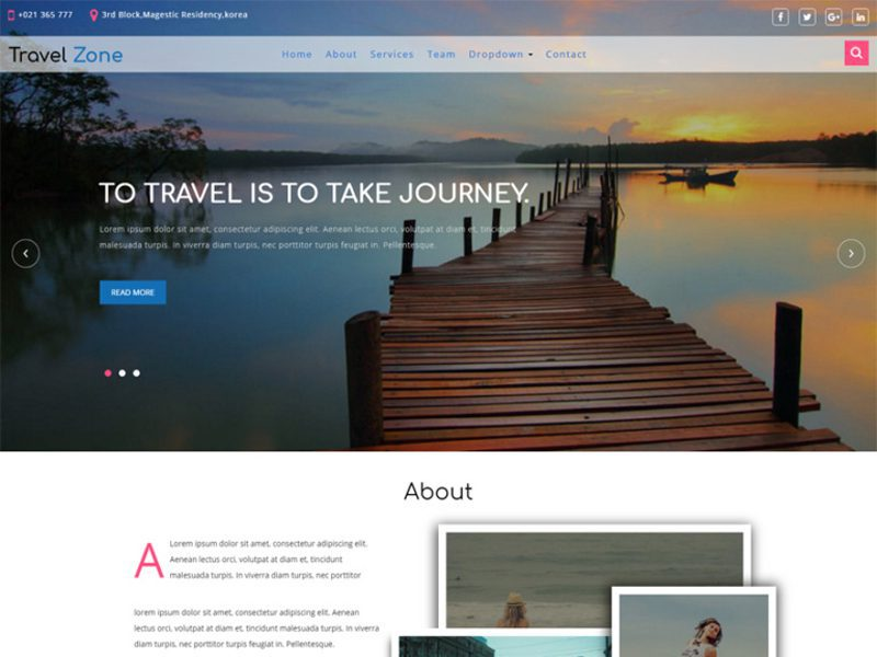 Travel Zone Free Travel Bootstrap Template