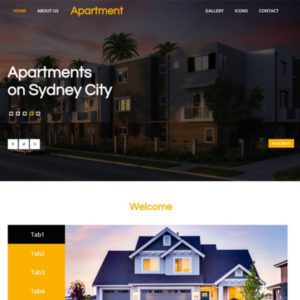 Apartment Real Estate Website Template