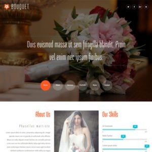 Bouquet Free Bootstrap Wedding Template