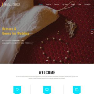 Bridal Dress Wedding Website Template
