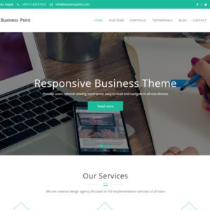 Business Point Free WordPress Theme For Business