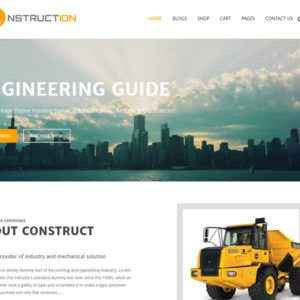 Construction WordPress Construction Theme Free