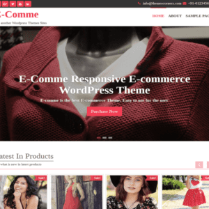 E-comme WordPress eCommerce Theme