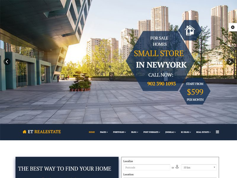 ET Real Estate Free Real Estate Joomla Template
