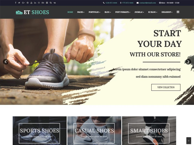 ET Shoes Joomla Shoes Template