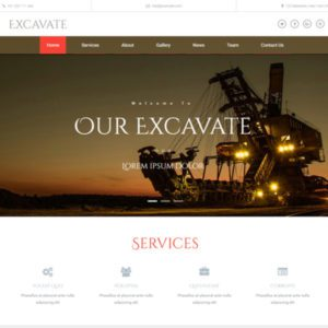 Excavate Free Bootstrap Industrial Template