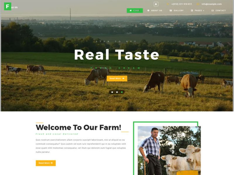 Farm Free Website Template For Agriculture Business