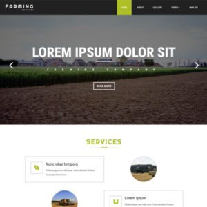 Farming Free Website Template For Agriculture Business