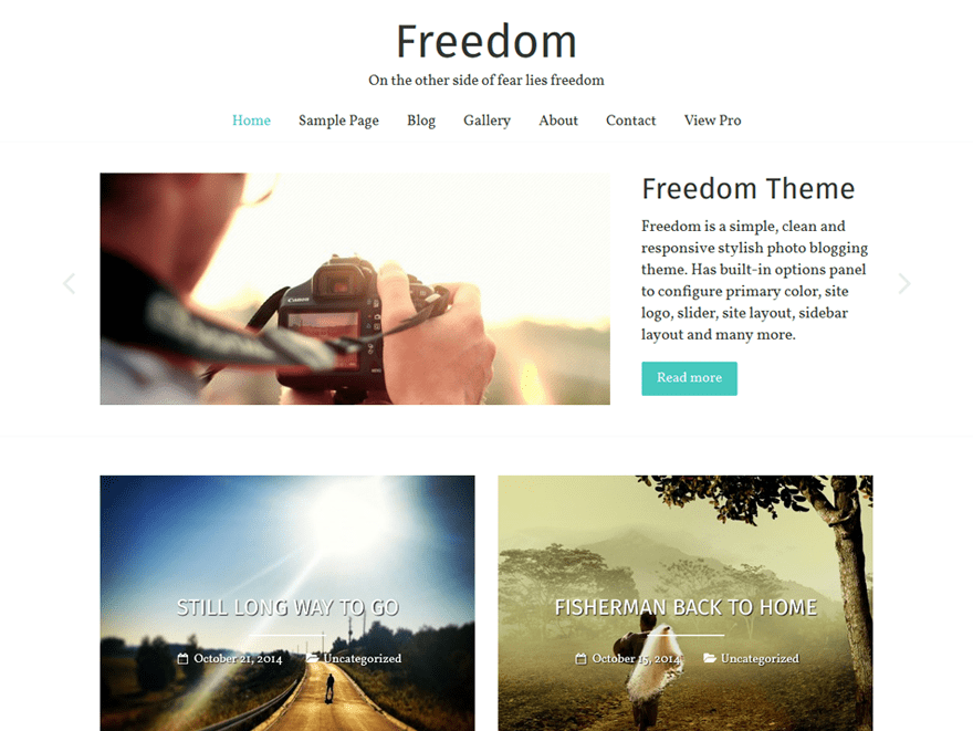 Freedom Free WordPress Blog Theme
