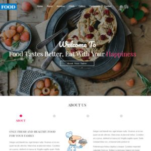 Fresh Food Free Restaurant Website Template