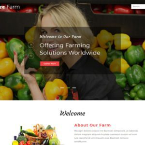 Green Farm Free Farm Website Template