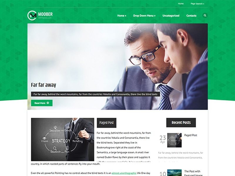 Moober Free WordPress Theme For Business