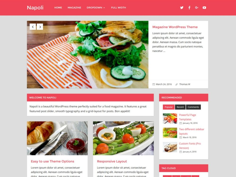 Napoli WordPress Restaurant Theme