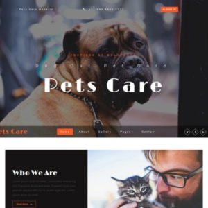 Pets Care Free Pet Website Template