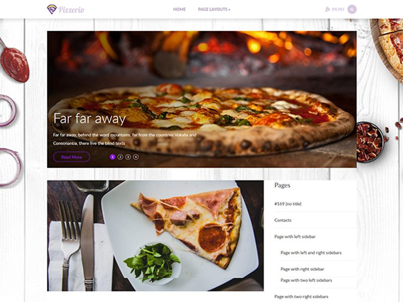Pizzerio Free Food WordPress Theme